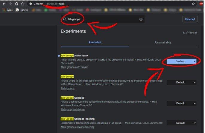 Google Chrome abas