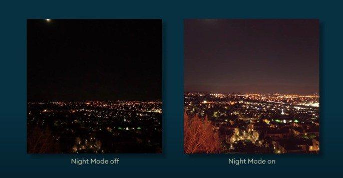 Google Câmara Go Night Mode