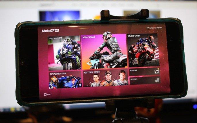 MotoGP 20 Google Stadia Modo Carreira