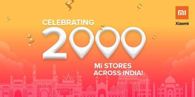 Xiaomi Índia 2 mil lojas