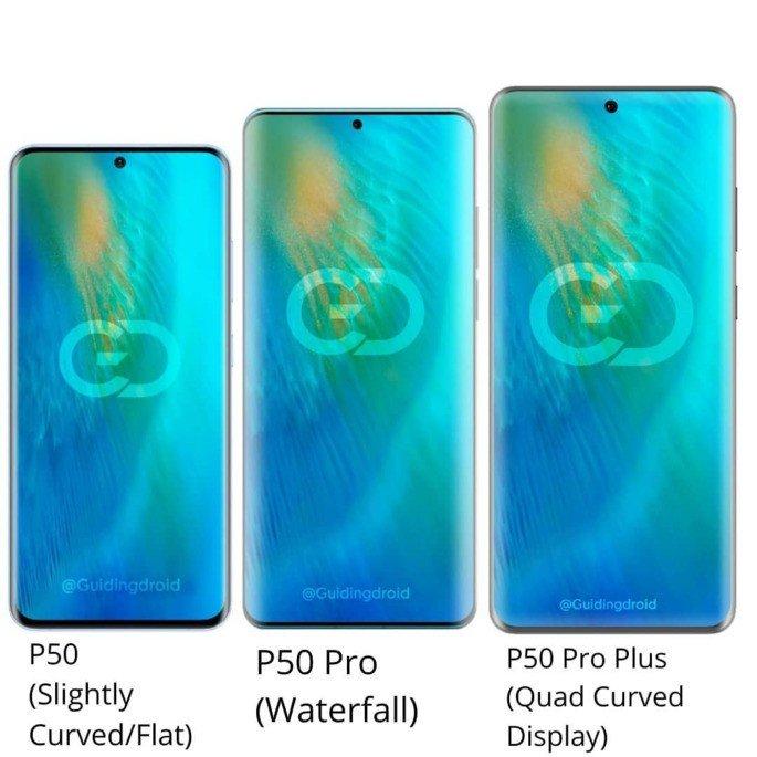 Huawei P50 ecrã