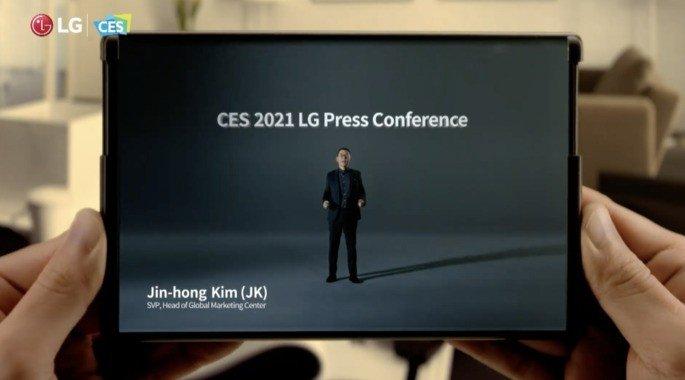 Smartphone LG ecrá rolável