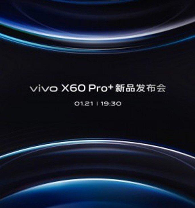 Vivo X60 Pro+ apresentação