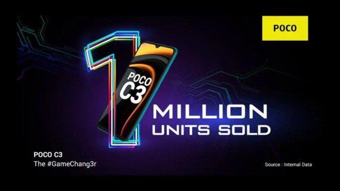 POCO C3 1 milhão de vendas