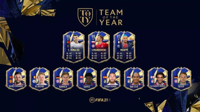 FIFA 21 Ultimate Team  TOTY