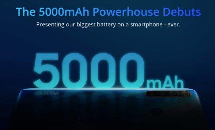 Realme 5 Pro bateria 5000mAh