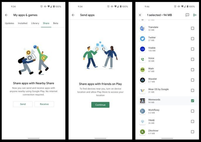 Google Nearby Share Android