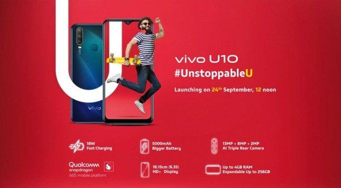 Vivo U10 smartphone android