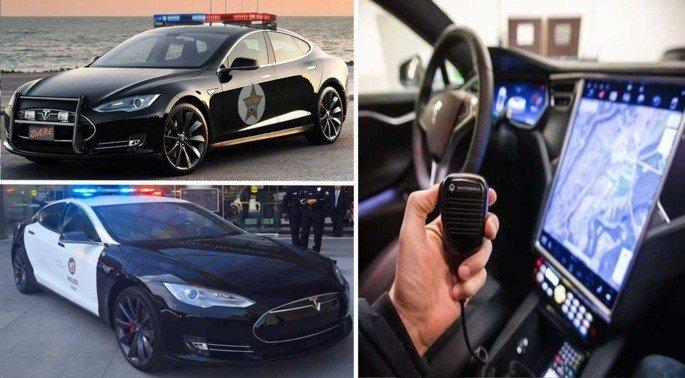 Tesla Model S Polícia