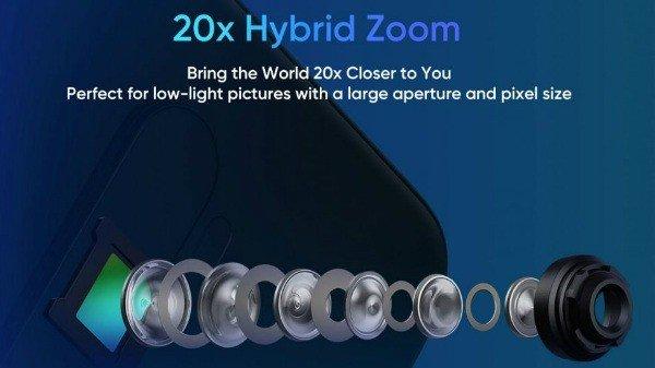 Realme X2 Pro zoom híbrido 20x