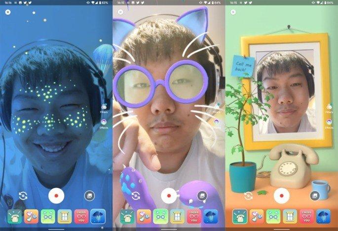 Google Duo filtros