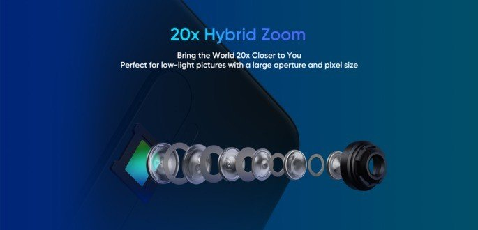 Realme 2X Pro 20x zoom híbrido