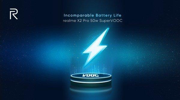 Realme X2 Pro bateria SuperVOOC