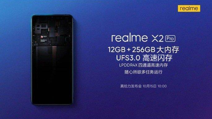 Realme X2 Pro UFS RAM