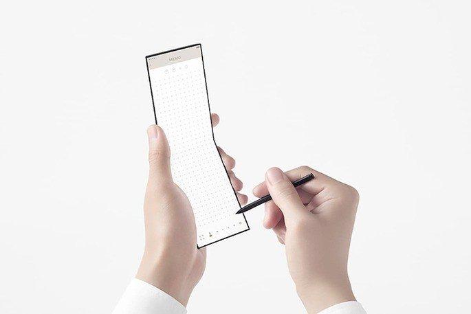 Conceito de 'slide-phone'. Fonte: Oppo