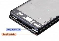 Estrutura do Sony Xperia Z4 comparada com a do Z3- leak