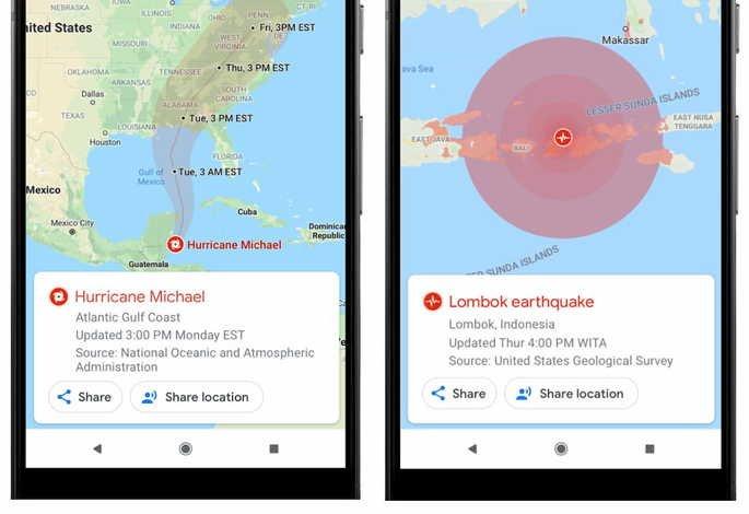 google maps alertas sos
