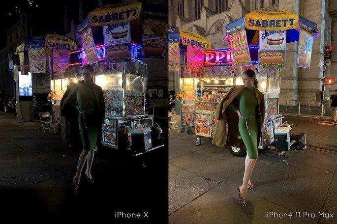 iphone x iphone 11 pro max modo noite