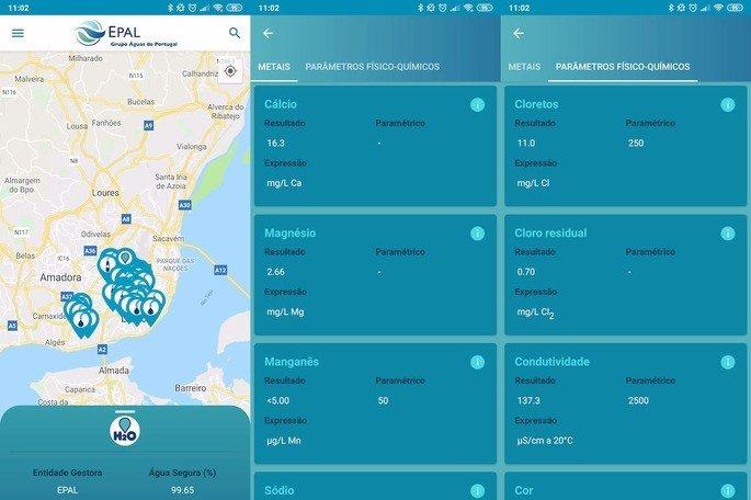 H2O quality app EPAL