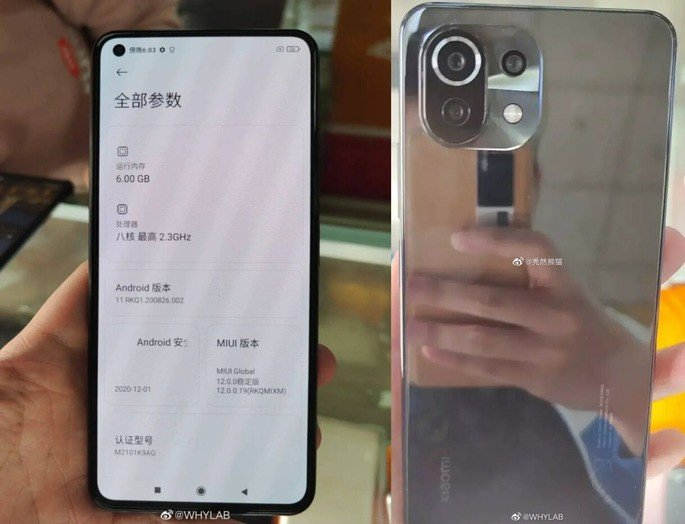 Alegadas imagens reais do Xiaomi Mi 11