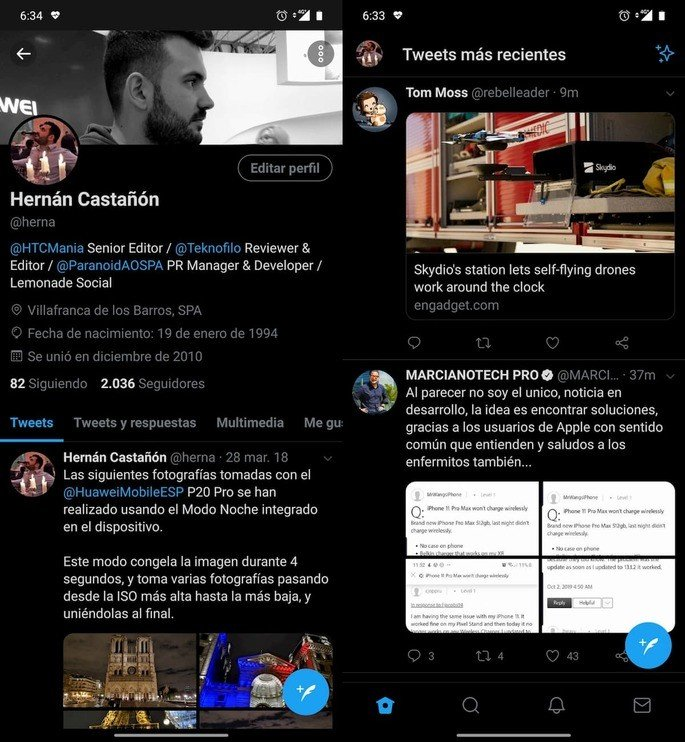 twitter android dark mode