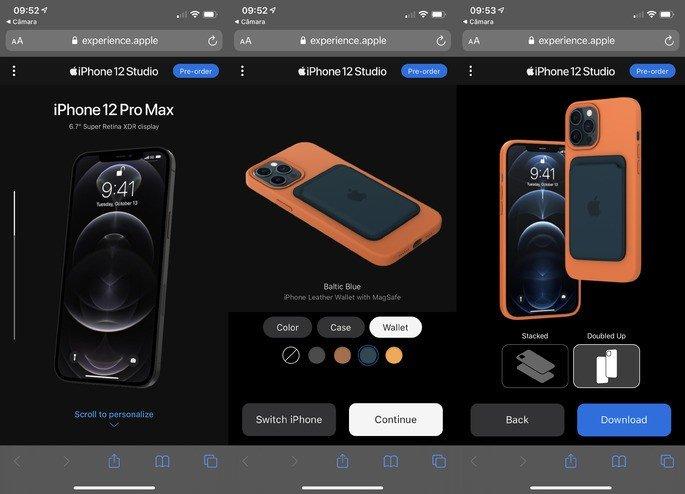 Exemplo: Personaliza um iPhone 12 Pro Max à tua medida