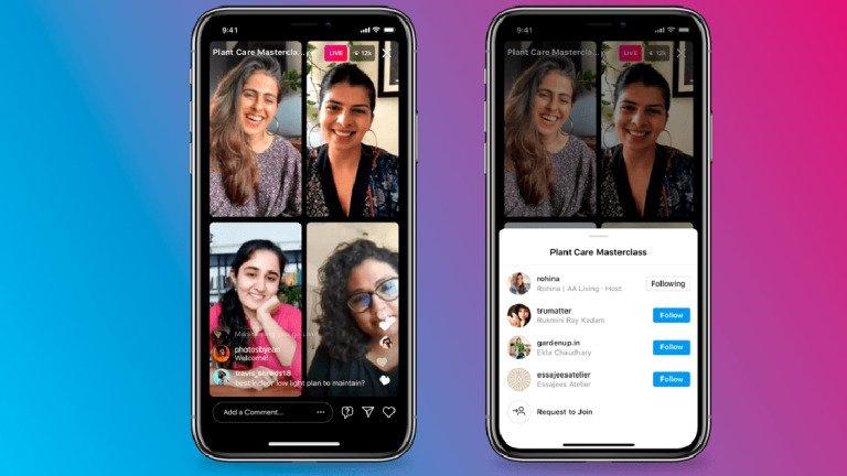 Instagram Live Rooms: a nova função para diretos com até 4 pessoas