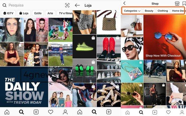 Instagram compras online atualização rede social