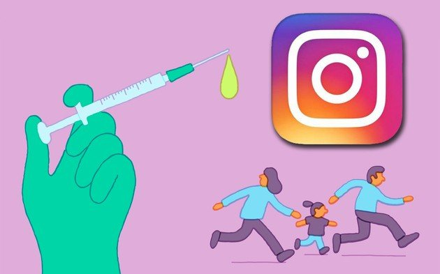 Instagram contra vacinas
