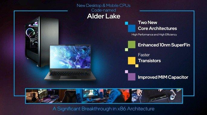 Processadores Alder Lake da Intel