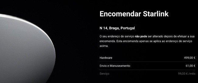 Internet Starlink Portugal