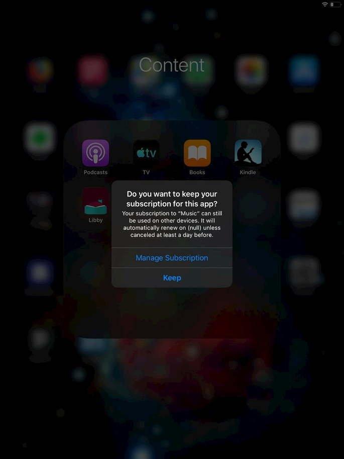 iOS 13 subscrição notificação