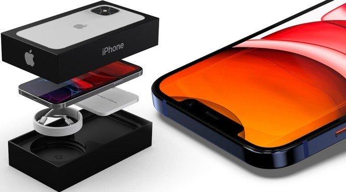 Conceito da caixa do iPhone 12