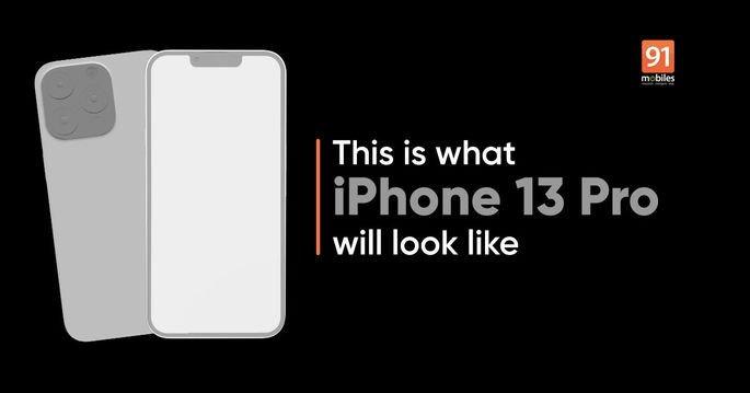 Imagens do alegado molde do iPhone 13 Pro. Crédito: 91mobiles