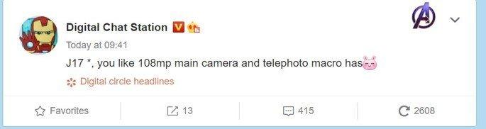 Redmi Note 10 Weibo