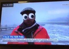 Jornalista torna reportagem hilariante ao esquecer os filtros do Facebook ativos! (vídeo)