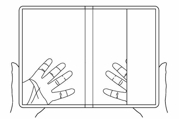 lg smartphone dobrável transparente