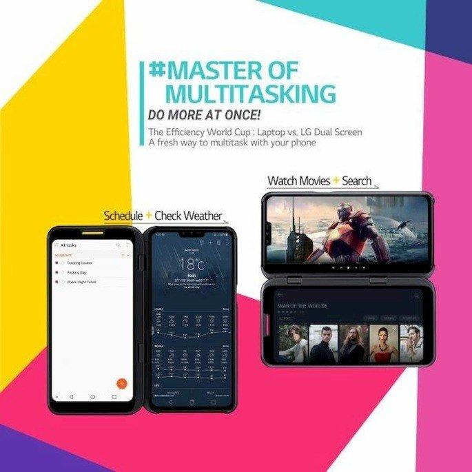 lg v50 thinq 5G dual screen multitasking
