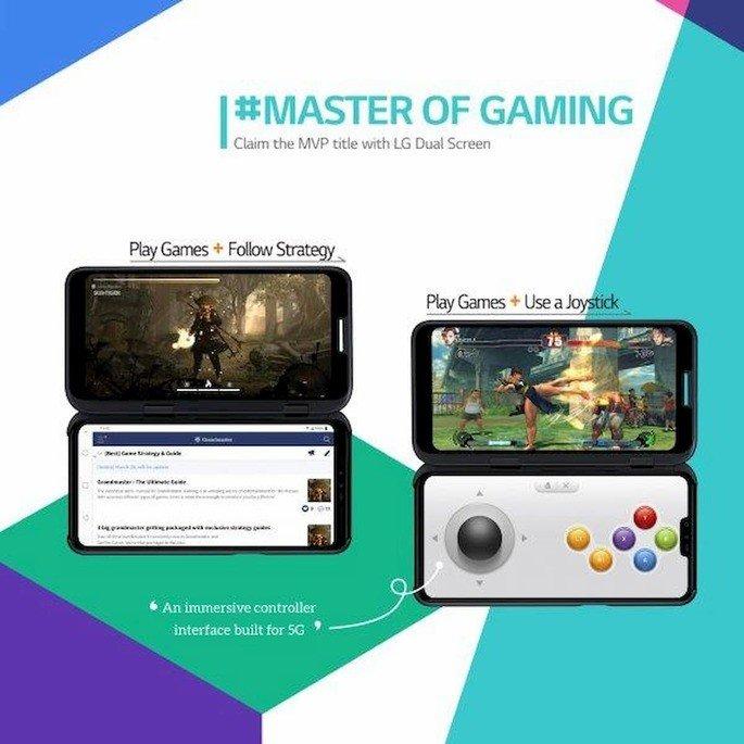 lg v50 thinq 5G dual screen gaming