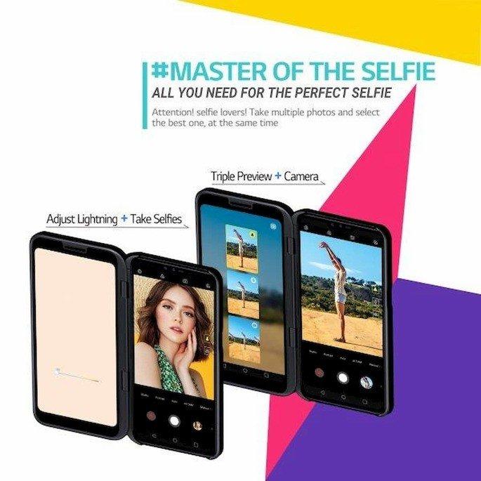 lg v50 thinq 5G dual screen câmara fotografia selfie