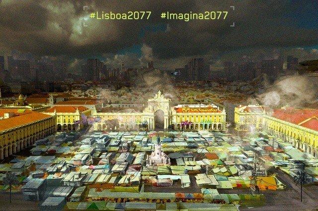 Lisboa no Universo Cyberpunk 2077