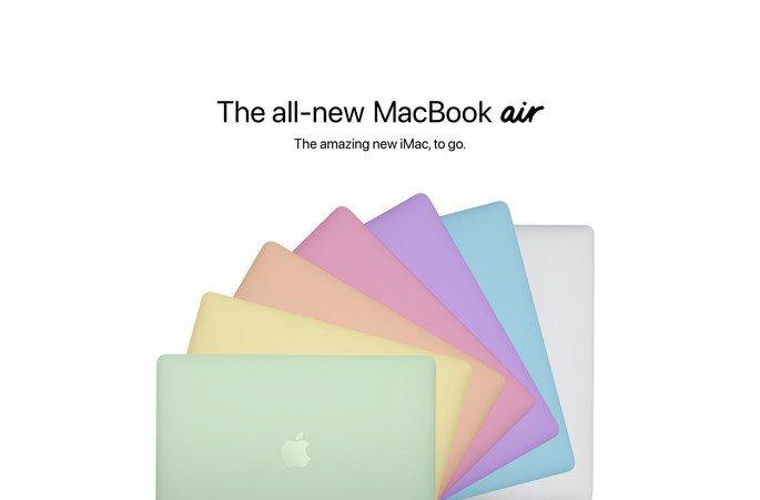 MacBook Air colorido imaginado pelo 9to5Mac