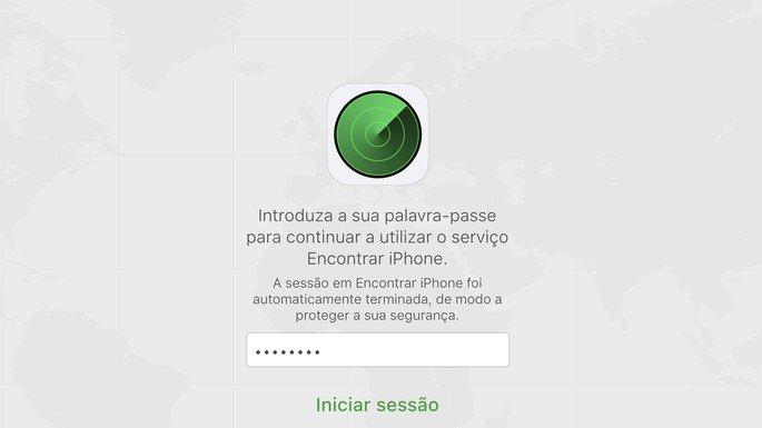 Encontrar iPhone através da iCloud