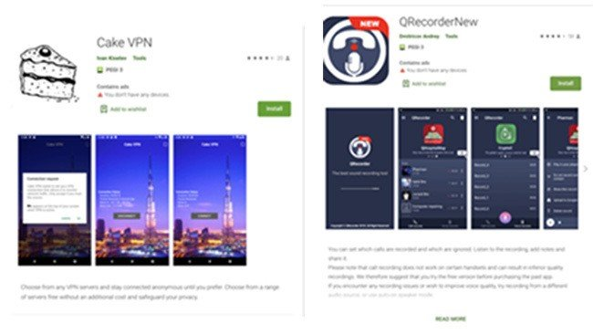 Apps Google Play Store malware