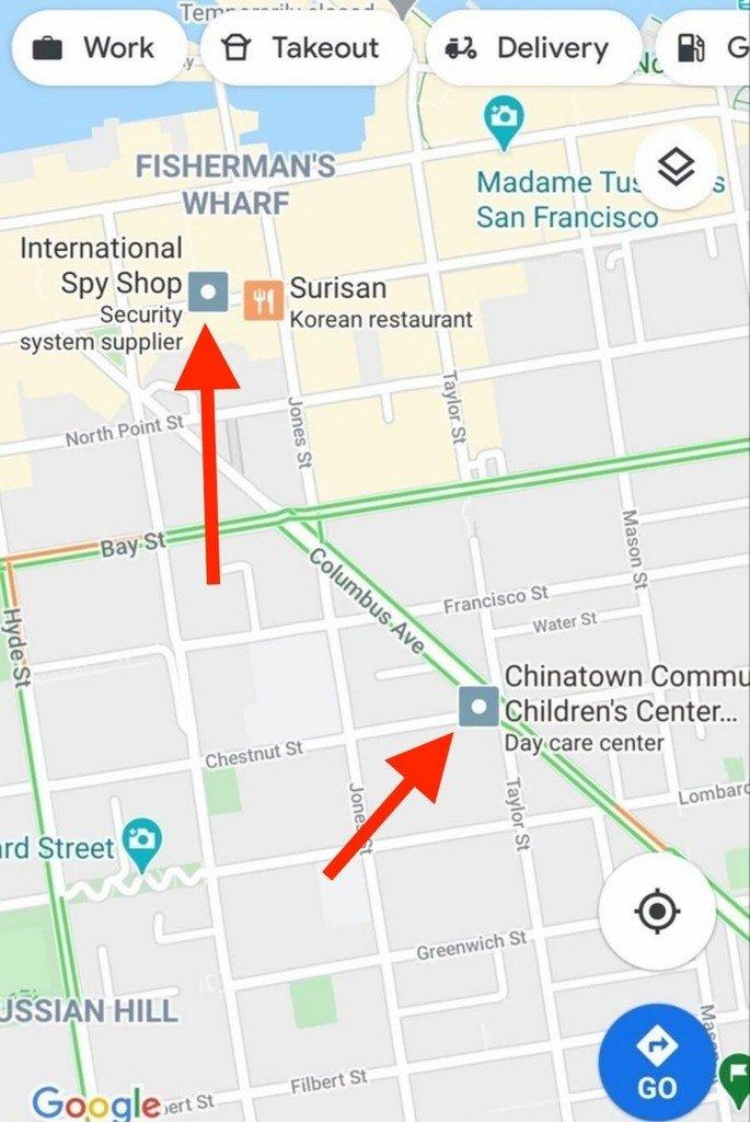 Google maps publicidades