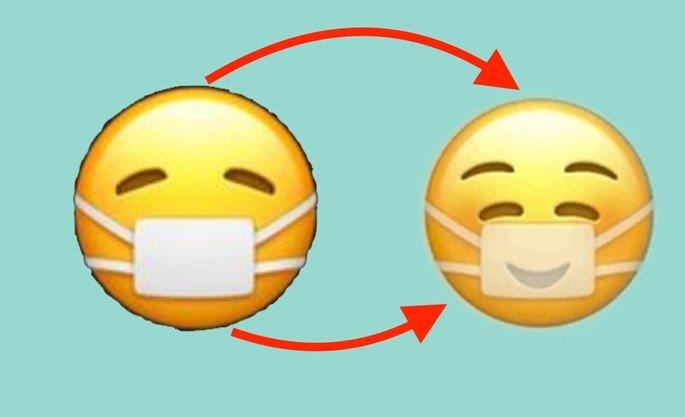 Emoji máscara iPhone