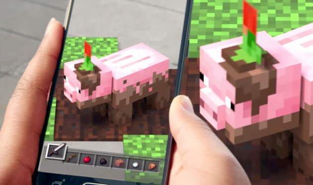 minecraft realidade aumentada AR microsoft mobile