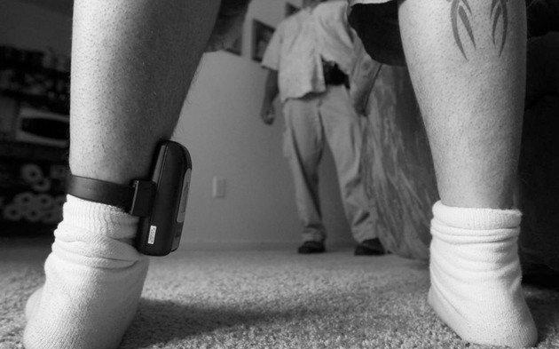 Criminosos Monitor de tornozelo