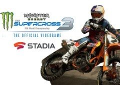 Monster Energy Supercross 3 no Google Stadia: horas de diversão entre saltos e trambolhões!