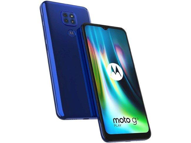 Motorola Moto G9 Play em azul
